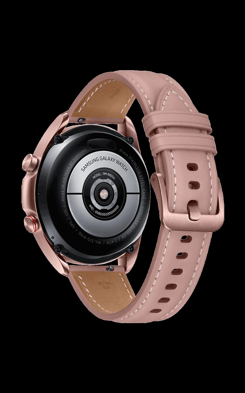 Left View Galaxy Watch3 41mm Mystic Bronze