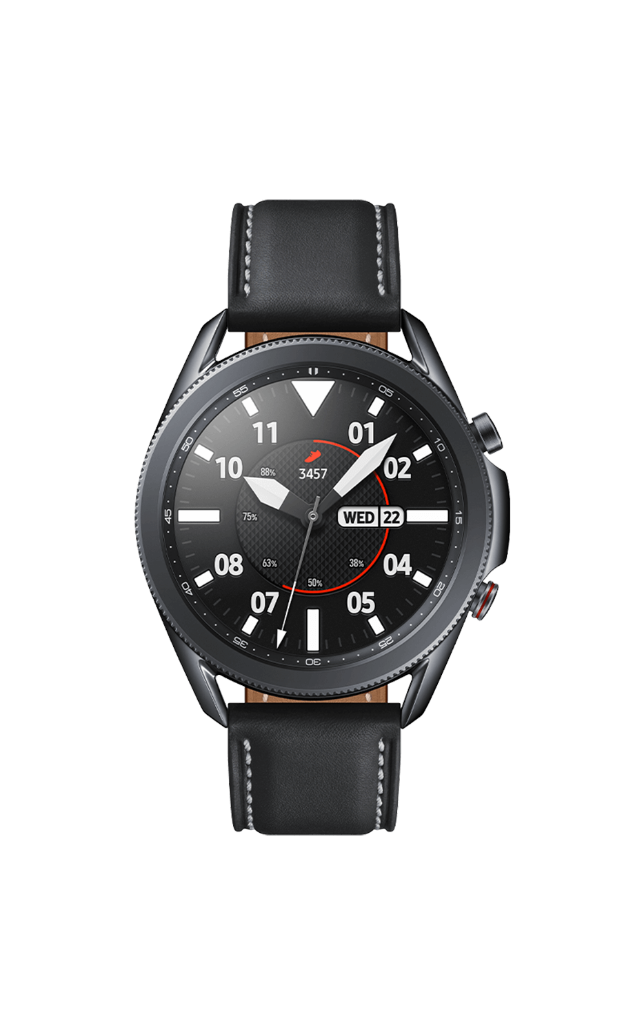 Front View Galaxy Watch3 45mm Mystic Black