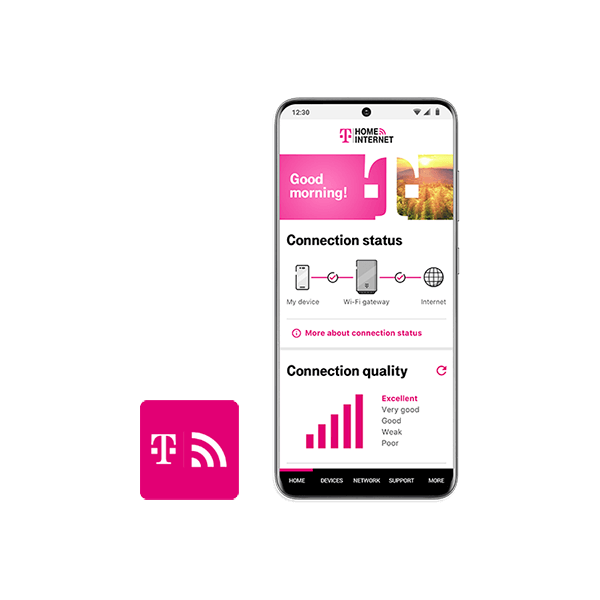 A mobile app to manage your network.