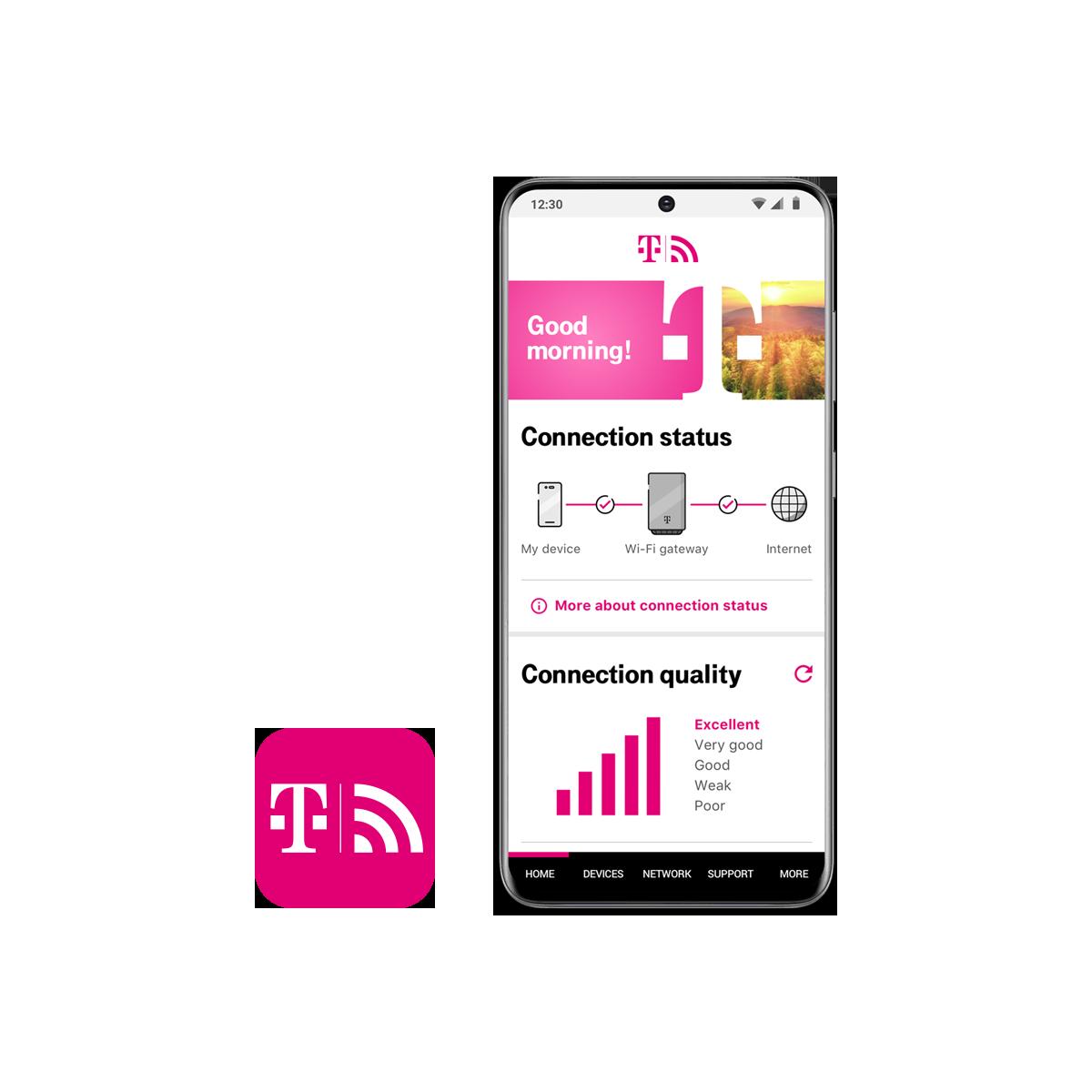 Una app móvil para administrar tu red.