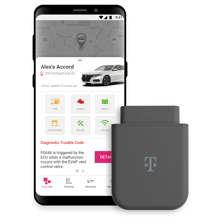 Syncup Drive Car Wi Fi Hotspot Tracking App T Mobile