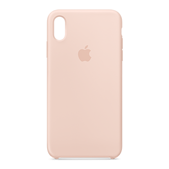 Apple Silicone Case for iPhone XS Max - Pink Sand