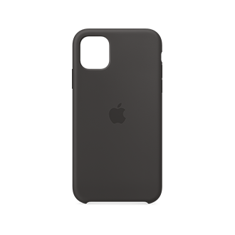 Apple Silicone Case for Apple iPhone 11 - Black