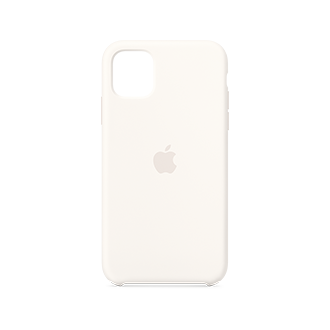 Apple Silicone Case for Apple iPhone 11 - White