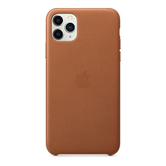 Apple Leather Case for Apple iPhone 11 Pro Max - Brown