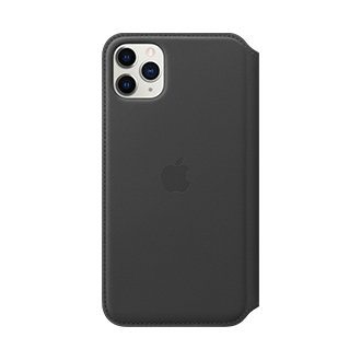 Apple Leather Folio Case for Apple iPhone 11 Pro Max - Black