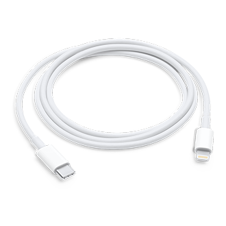 Apple Lightning Connector to USB Cable, 1 m - White