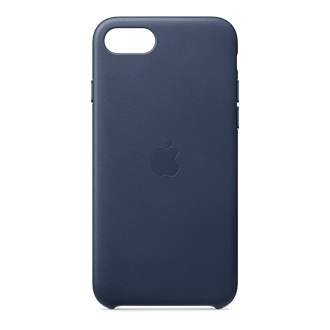 Apple Leather Case for iPhone SE (2020) /8/7 - Midnight Navy