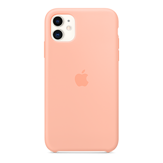 Apple Silicone Case for Apple iPhone 11 - Grapefruit