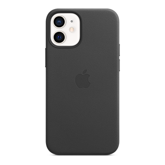 Apple Leather Case with MagSafe for Apple iPhone 12 mini - Black
