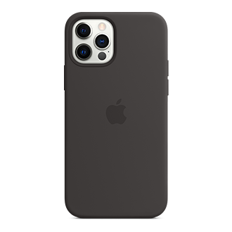 Apple Silicone Case with MagSafe for Apple iPhone 12/12 Pro - Black