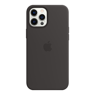 Apple Silicone Case with MagSafe for Apple iPhone 12 Pro Max - Black