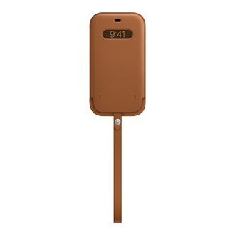 Apple Leather Sleeve with MagSafe for Apple iPhone 12 Pro Max  - Saddle Brown