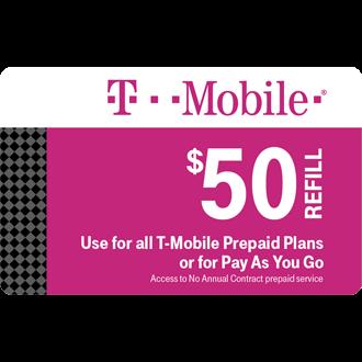 $50 Prepaid Refill Card