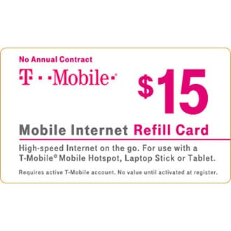 $15 Mobile Internet Refill Card