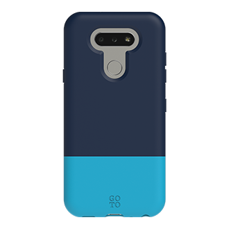 GoTo™ Shade Case for LG Aristo 5 - Navy Blue/ Turquoise Blue