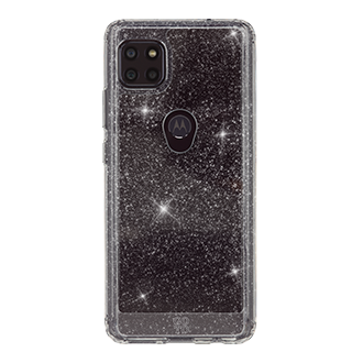 GoTo™ Define Sparkle Case for Motorola one 5G ACE - Clear Sparkle
