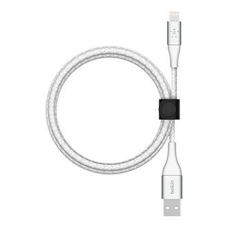 Belkin BOOST CHARGE Braided Lightning to USB-A Cable, 2m - White