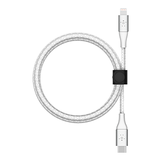 Belkin BOOST CHARGE Braided USB-C to Lightning Cable, 2m - White