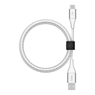 Belkin BOOST CHARGE Braided USB-A to USB-C Cable, 2m - White