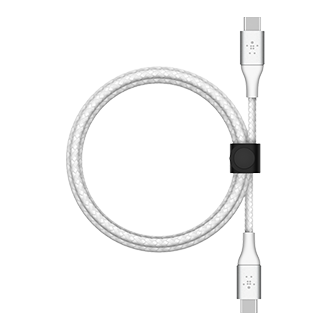 Belkin BOOST CHARGE Braided USB-C to USB-C Cable, 2m - White