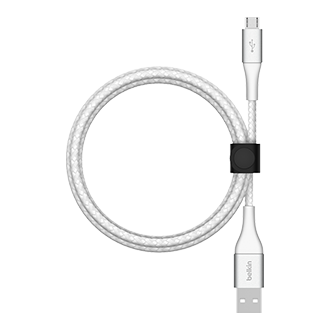 Belkin BOOST CHARGE Braided USB-A to Micro USB Cable, 2m - White