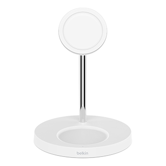 Belkin BOOST CHARGE PRO MagSafe 2-in-1 Magnetic Wireless Charger-White