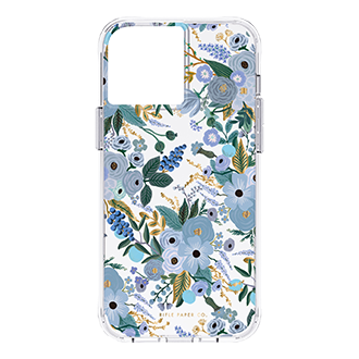 Case-Mate Rifle Paper Co Case for iPhone 13 Pro Max/12 Pro Max - Gardn Party Blu