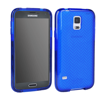 Samsung Galaxy S5 Tech 21 Impact Shell Blue Herringbone