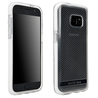 Samsung Galaxy S7 Tech21 Evo Check Case - Clear & White