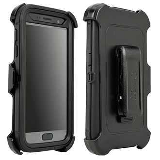 Samsung Galaxy S7 Otterbox Defender Series Case - Black Rugged, Unbeatable Protection On The Job Or On The Go. Three Layers Plus Foam Padding Help Absorb The Impact Of Drops, Bumps, And Other Shock. Built-In, Ultra-Clear Screen Protector Prevents Scratches And Scrapes. Sealed Cover Helps Keep Dust And Dirt From Getting Into Your Phone. Belt-Clip Holster Provides Easy Access And Is Also A Kickstand For Hands-Free Viewing. Snap-Click Plastic Shell Is Easy To Install And Remove. Your Phone Stays Covered And Looking Like New.