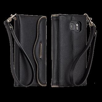 Samsung Galaxy S7 Rebecca Minkoff Leather Wristlet - Black