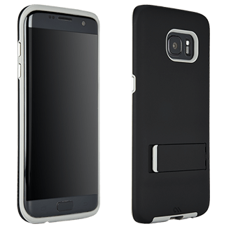 Samsung Galaxy S7 Edge Case-Mate Tough Stand - Black Stylish Protection That Slides Easily In Your Pocket. Ultra-Slim Design Features A Smooth, Clear Finish That Resists Scratches. Two Lightweight Layers And A Protective Bumper Reduce Impact And Shock. Metal Button Accents Add To The Polished Look.