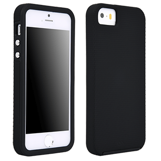 iPhone Se Case-Mate Tough Case - Black Ultra-Slim Protection That's Easy To Hold. Two-Layer Design Includes An Inside Cushion And Protective Bumper To Reduce Impact And Shock. Sporty, Textured Finish Resists Slipping And Feels Good In Your Hand. Metal Button Accents Add To The Polished Look
