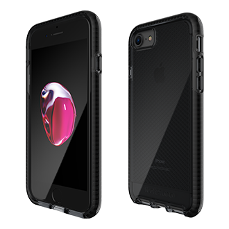 Apple iPhone 7/8 Tech21 Evo Check Case - Smoke & Black Ultra-Thin, Super-Lightweight Protection For Your Phone. Flexshock Material Offers Superior Protection Against Impact And Helps Prevent Scratches. Corners Are Encased For A Secure Fit. Inside Check Pattern Adds A Touch Of Style.