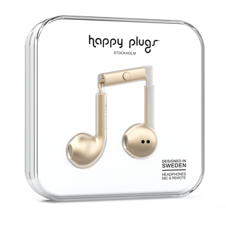 Happy Plugs Earbud Plus Headphones - Champagne