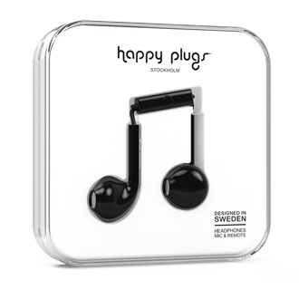 Happy Plugs Earbud Plus - Black Meet Earbud Plus, Designed To Fit The Ear For An Ultimate Experience. It Combines High Performance Audio, Fashionable Colors And A Stylish Design At The Same Time. With Eye- Catching Color And Ear Comfort – Happy Plugs Earbud Plus Is Made To Fit You Perfectly. They Work With All Smartphones On The Market And Have A Built-In Mic And Remote.