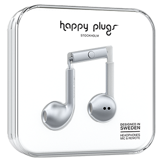 Happy Plugs Earbud Plus - White Meet Earbud Plus, Designed To Fit The Ear For An Ultimate Experience. It Combines High Performance Audio, Fashionable Colors And A Stylish Design At The Same Time. With Eye- Catching Color And Ear Comfort – Happy Plugs Earbud Plus Is Made To Fit You Perfectly. They Work With All Smartphones On The Market And Have A Built-In Mic And Remote.