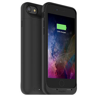 Mophie iPhone 7 Juice Pack Air - Black Lightweight Protection That Doubles Your Battery Power. Flip A Switch For A Quick Charge That Provides More Than 100 Percent Extra Talk Time, Internet Use, Or Video Playback. Durable Outer Band And Rubberized Pads Reduce Impact, Adding To Case's Full Coverage. When Connected To A Computer, Case Lets Phone Charge And Sync First Before Recharging Itself. Switch Lets You Choose When To Charge Or Save Power For Later. Comes In A Variety Of Colors.