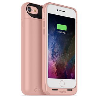 Mophie Juice Pack Air Made For iPhone 7 - Rose Gold Lightweight Protection That Doubles Your Battery Power. Flip A Switch For A Quick Charge That Provides More Than 100 Percent Extra Talk Time, Internet Use, Or Video Playback. Durable Outer Band And Rubberized Pads Reduce Impact, Adding To Case's Full Coverage. When Connected To A Computer, Case Lets Phone Charge And Sync First Before Recharging Itself. Switch Lets You Choose When To Charge Or Save Power For Later. Comes In A Variety Of Colors.