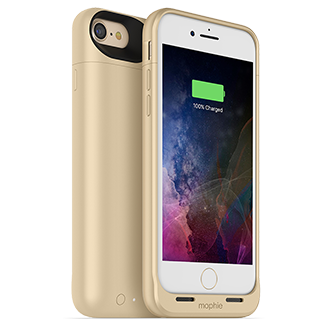 Apple iPhone 7 Plus Mophie Juice Pack Air - Gold Lightweight Protection That Doubles Your Battery Power. Flip A Switch For A Quick Charge That Provides More Than 100 Percent Extra Talk Time, Internet Use, Or Video Playback. Durable Outer Band And Rubberized Pads Reduce Impact, Adding To Case's Full Coverage. When Connected To A Computer, Case Lets Phone Charge And Sync First Before Recharging Itself. Switch Lets You Choose When To Charge Or Save Power For Later. Comes In A Variety Of Colors.