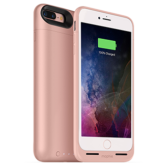 Apple iPhone 7 Plus Mophie Juice Pack Air - Rose Gold Lightweight Protection That Doubles Your Battery Power. Flip A Switch For A Quick Charge That Provides More Than 100 Percent Extra Talk Time, Internet Use, Or Video Playback. Durable Outer Band And Rubberized Pads Reduce Impact, Adding To Case's Full Coverage. When Connected To A Computer, Case Lets Phone Charge And Sync First Before Recharging Itself. Switch Lets You Choose When To Charge Or Save Power For Later. Comes In A Variety Of Colors.