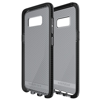 Samsung Galaxy S8 Tech21 Evo Check Case - Smoke & Black Ultra-Thin, Lightweight And Featuring A Unique Check Pattern, You Can Trust The Tech Evo Check's Advanced Drop Protection To Keep Your Phone As Beautiful As The Day You Took It Out Of The Box. Thanks To Flexshock, Evo Check Offers 2m/6.6ft Drop Protection. Flexshock Is So Efficient That We Didn't Need Much Of It To Offer Great Protection, Making Evo Check Ultra-Thin And Lightweight. Evo Check Sits Securely In Your Hand And Gives You Comfortable And Precise Access To All Your Ports And Function Buttons. It's Also Designed To Work Perfectly With Tech21 Screen Protectors (sold Separately).