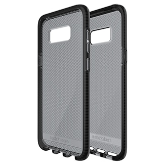 Samsung Galaxy S8 Plus Tech21 Evo Check Case - Smoke & Black Ultra-Thin, Lightweight And Featuring A Unique Check Pattern, You Can Trust The Tech Evo Check's Advanced Drop Protection To Keep Your Phone As Beautiful As The Day You Took It Out Of The Box. Thanks To Flexshock, Evo Check Offers 2m/6.6ft Drop Protection. Flexshock Is So Efficient That We Didn't Need Much Of It To Offer Great Protection, Making Evo Check Ultra-Thin And Lightweight. Evo Check Sits Securely In Your Hand And Gives You Comfortable And Precise Access To All Your Ports And Function Buttons. It's Also Designed To Work Perfectly With Tech21 Screen Protectors (sold Separately).
