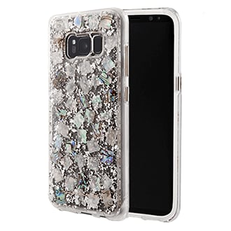 Samsung Galaxy S8 Case-Mate Karat Case - Mother Of Pearl A Modern Work Of Art In Rose Gold And Acrylic. Rose Gold Dust Flakes Are Inlaid With A Clear, Translucent Finish. Two Lightweight Layers And A Protective Bumper Reduce Impact And Shock, Providing Military Strength Impact Protection. Refined Metal Button Accents Add To The Polished Look.