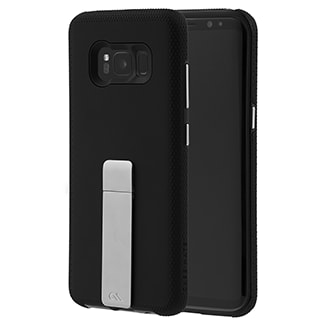 Samsung Galaxy S8 Case-Mate Tough Stand - Black This Protective, Dual-Layered Case Offers A Smooth Soft Touch Finish And Ultra Slim Design. An Integrated Kickstand Provides The Perfect Media Viewing Experience With Both Portrait And Landscape Viewing Angles. Metallic Chrome Buttons Accent And Complete The Polished Look Of Your Device.