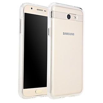 Samsung Galaxy J7 Prime Case-Mate Naked Tough Case - Clear Stylish Protection That Slides Easily In Your Pocket. Ultra-Slim Design Features A Smooth, Clear Finish That Resists Scratches. Two Lightweight Layers And A Protective Bumper Reduce Impact And Shock. Metal Button Accents Add To The Polished Look.