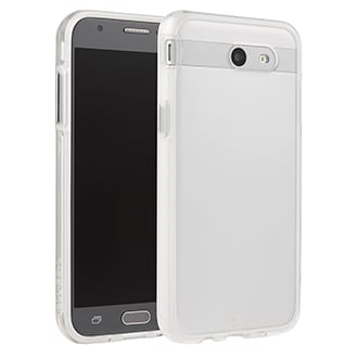 Samsung Galaxy J3 Prime Case-Mate Naked Tough Case - Clear Stylish Protection That Slides Easily In Your Pocket. Ultra-Slim Design Features A Smooth, Clear Finish That Resists Scratches. Two Lightweight Layers And A Protective Bumper Reduce Impact And Shock. Metal Button Accents Add To The Polished Look.
