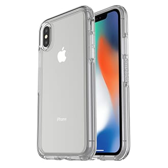 Apple iPhone X Otterbox Symmetry Series Case - Clear With Otterbox Symmetry Series, Thin Equals Tough. Featuring An Ultra-Slim Profile And Otter Box Certified Drop+ Protection, Symmetry Series Stays True To Your Phone's Sleek Design — And We Stay True To Our Promise Of Protection. Its Sleek Profile Follows Your Phone's Precision Lines And Slips Easily In And Out Of Pockets And Purses While Its Raised, Beveled Edge Helps Protect The Touchscreen. The Hard Polycarbonate Exterior Helps Keep Your Phone Safe From Scratches.