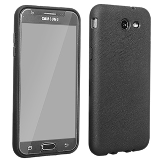 Samsung J3 Prime Protection Value Pack Smooth, Flexible Protection For Your Phone. Case Reduces The Impact Of Drops And Bumps. Rubberized Finish Provides A Sure Grip And Helps Protect Against Dirt And Scratches. Screen Protector Included.